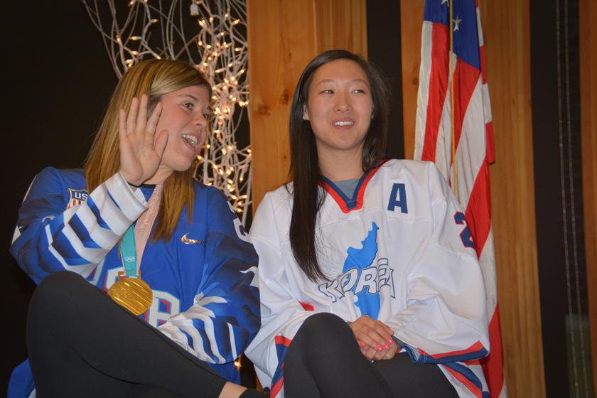 Olympic Women's Hockey sisters: Hanna and Marissa Brandt.  2018 Pyeongchang Winter Olympic games.