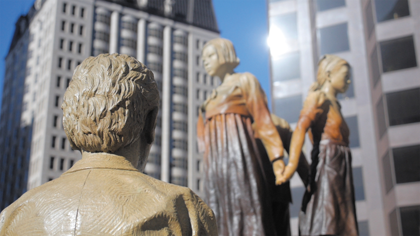 The San Francisco memorial to the former comfort women