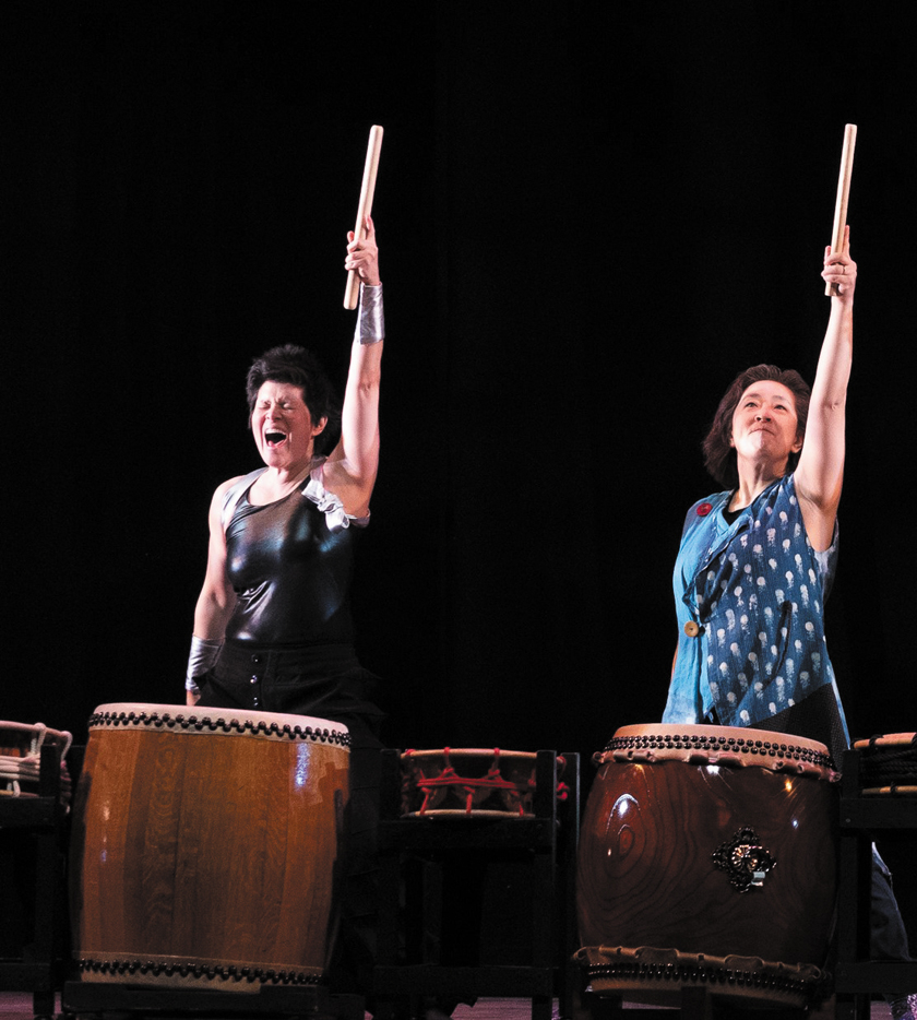 HerBeat taiko performance: Megan Chao Smith and Jennifer Weir
