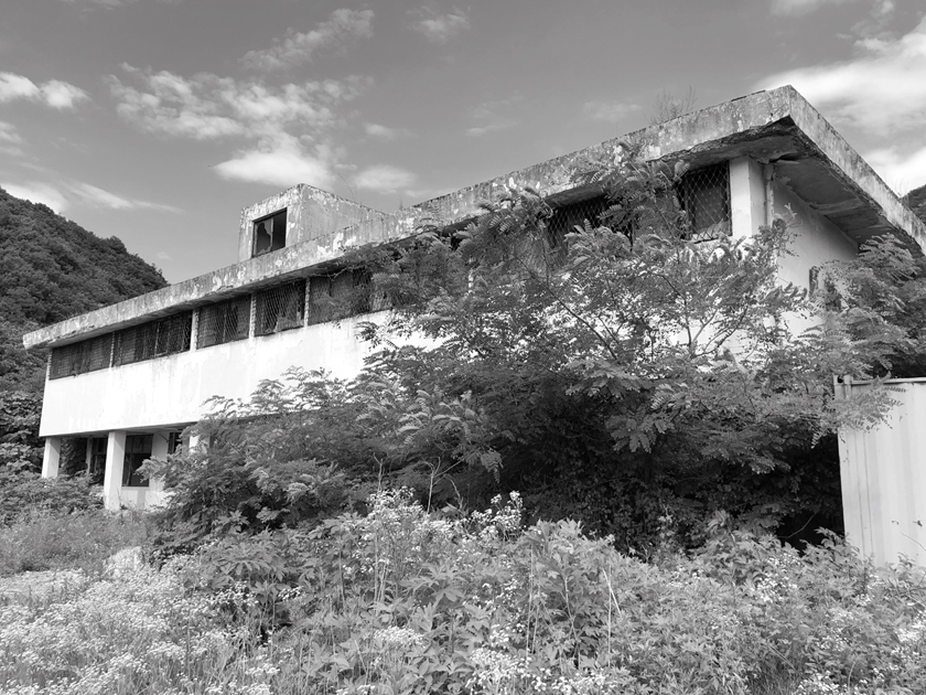 """The remains of the medical detention center, known as the """"Monkey House"""" near Camp Casey in Dongducheon, South Korea."""
