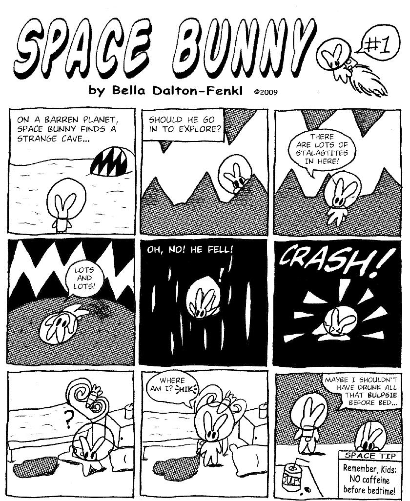 Space Bunny comic #1 by Bella Dalton-Fenkl