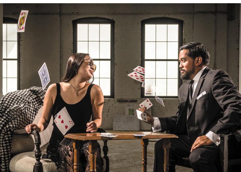 "Ming Montgomery and Eric Pogi Sumangil in Theater Mu's ""Fast Company""."