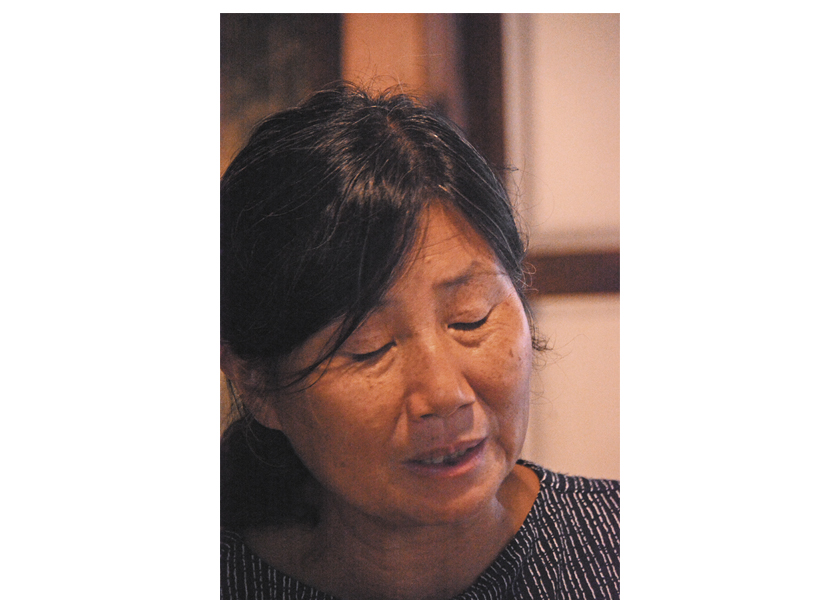 Activist Sunhee Choi organizer of the protests at the naval base in Gangjeong, Jeju island, South Korea