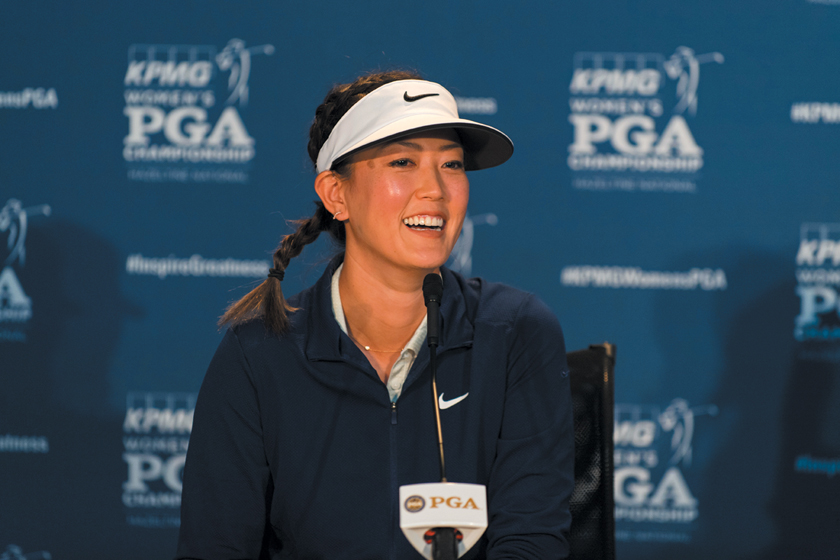Michelle Wie speaks during a press conference for the 65th KPMG Women's PGA Championship held at Hazeltine National Golf Club on June 18, 2019 in Chaska, Minnesota. (Photo by Carly Grenfell/PGA of America)