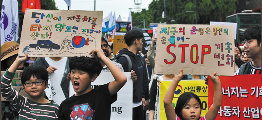 Contemporary Rebellions podcast episode one: South Koreans take to the streets for the Global Climate Strike in 2019