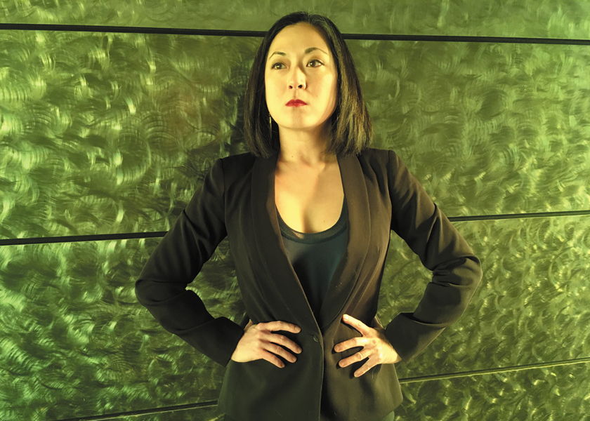 """Katie Bradley who plays Wang Min in the Guthrie's production of """"Caught""""."""