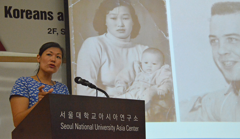 Adopted Korean Mosiac Hapa tour conference speaker SueJe Gage, associate professor of anthropology at Ithaca College.