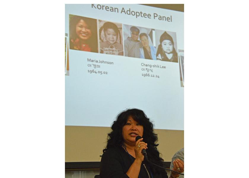 Adopted Korean Mosiac Hapa tour conference panel speaker Maria Giannoble Johnson