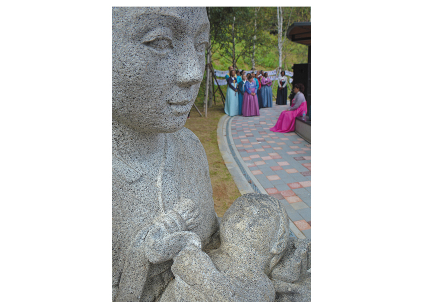 Adopted Korean Mosiac Hapa tour at the dedication of Omma Poom Park in Paju, South Korea.